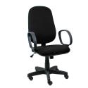 Cadeira Presidente Operativa Com Braço Tecido Preto - ULTRA Móveis