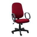 Cadeira Presidente Operativa Com Braço Tecido Vermelho - ULTRA Móveis