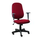 Cadeira Presidente Operativa Com Braço Regulável Tecido Vermelho - ULTRA Móveis