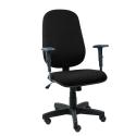 Cadeira Presidente Operativa Com Braço Regulável Tecido Preto - ULTRA Móveis