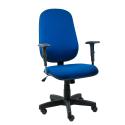 Cadeira Presidente Operativa Com Braço Regulável Tecido Azul com Preto - ULTRA Móveis