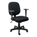 Cadeira Diretor Operativa Com Braço Regulável Tecido Preto - ULTRA Móveis
