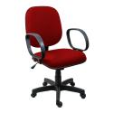 Cadeira Diretor Operativa Com Braço Tecido Vermelho - ULTRA Móveis