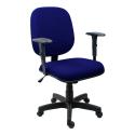 Cadeira Diretor Operativa Com Braço Regulável Tecido Azul com Preto - ULTRA Móveis