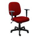 Cadeira Diretor Operativa Com Braço Regulável Tecido Vermelho - ULTRA Móveis