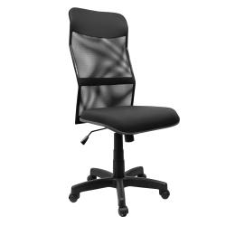 Cadeira Presidente Tela Crepe Braços Reguláveis