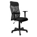 Cadeira Tela Presidente Com Braço Regulável Preta - ULTRA Móveis