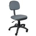 Cadeira Secretária Jserrano Cinza Com Preto - ULTRA Móveis
