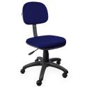 Cadeira Secretária Jserrano Azul Com Preto - ULTRA Móveis