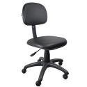 Cadeira Secretária Couro Ecológico Preto - ULTRA Móveis
