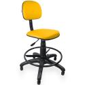 Cadeira Caixa Couro Ecológico Amarelo - ULTRA Móveis