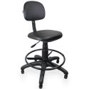 Cadeira Caixa Couro Ecológico Preto - ULTRA Móveis