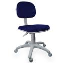 Cadeira Secretária Jserrano Azul Com Preto Base Cinza - ULTRA Móveis