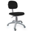 Cadeira Secretária Jserrano Preto Base Cinza - ULTRA Móveis