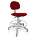 Cadeira Caixa Jserrano Vermelho Base Cinza - ULTRA Móveis