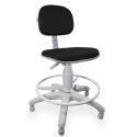 Cadeira Caixa Jserrano Preto Base Cinza - ULTRA Móveis