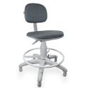 Cadeira Caixa Jserrano Cinza Com Preto Base Cinza - ULTRA Móveis