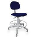 Cadeira Caixa Jserrano Azul Com Preto Base Cinza - ULTRA Móveis