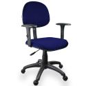 Cadeira Executiva Jserrano Azul com Preto com Braço Regulável - ULTRA Móveis