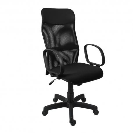 Cadeira Presidente Tela Crepe - Base Preta