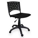Cadeira Giratória Plástica Preta - ULTRA Móveis
