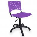 Cadeira Giratória Plástica Roxa - ULTRA Móveis