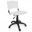 Cadeira Giratória Plástica Branca - ULTRA Móveis