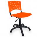 Cadeira Giratória Plástica Laranja - ULTRA Móveis