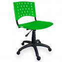 Cadeira Giratória Plástica Verde - ULTRA Móveis