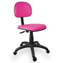 Cadeira Secretária Couro Ecológico Rosa - ULTRA Móveis