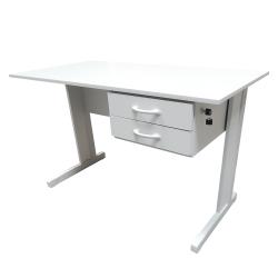 Mesa Para Escritório 1,20 x 0,75 x 0,60 Platina Standard