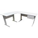 Mesa de 120cm Platina com 2 Gavetas Home Office - ULTRA Móveis