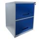 Arquivo de Aço Cinza Com Azul Chapa 26