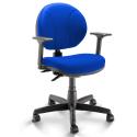 Cadeira Operativa Executiva Backita M1 NR-17 Azul Escuro