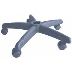 Base em aço para cadeira secretaria giratória - com rodízio