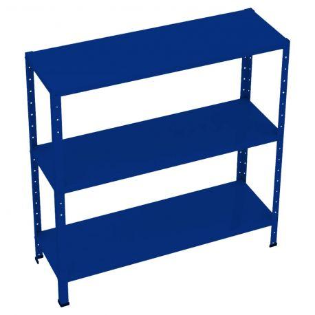 Kit Estante De Aço 03 Prateleiras Azul