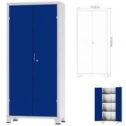 Armário De Aço 1,66 x 0,75 x 0,35 Azul Royal