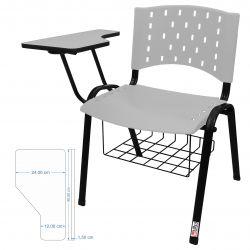 Kit 10 Cadeiras Universitárias Ergoplax Com Porta Livros Acqua Marine Ultra