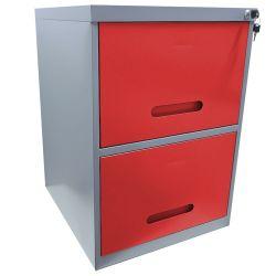 Arquivo de Aço Cinza com Vermelho Chapa 26